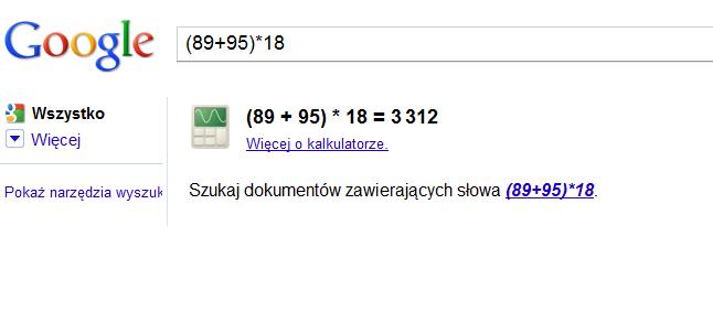 Google_wyszukiwanie_kalkulator