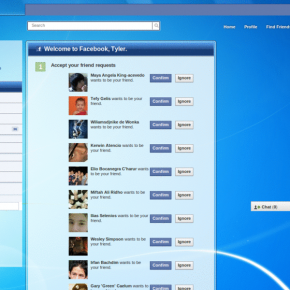 Stylish - Facebook - Windows 7 blue