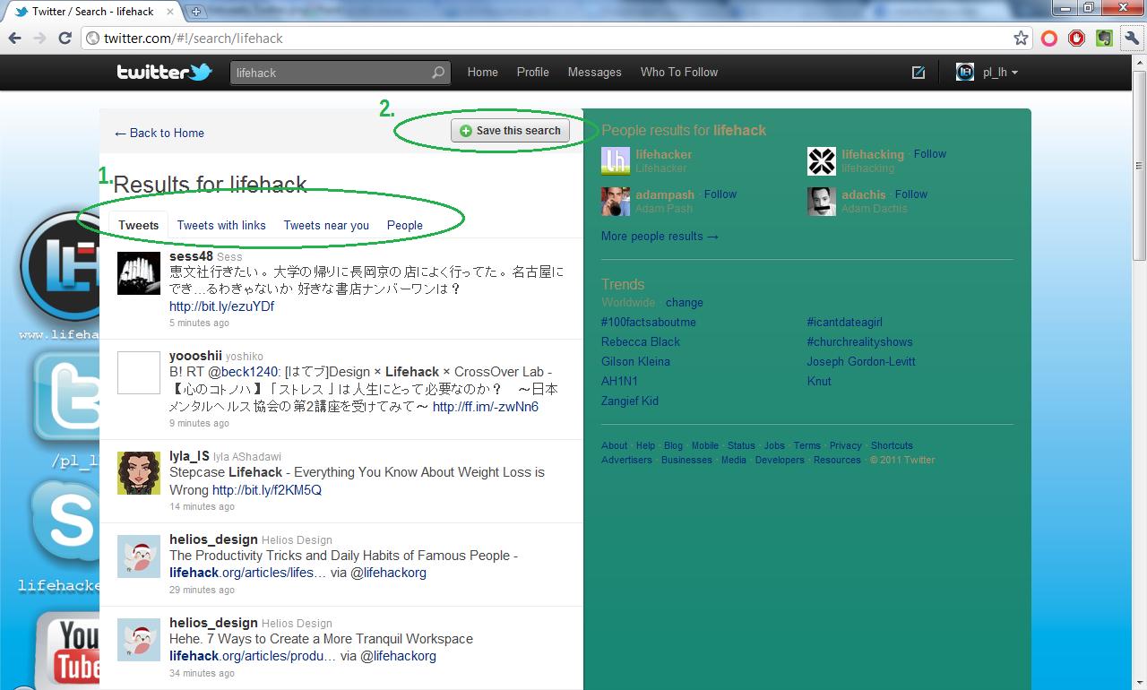 Wyszukiwanie strona głowna Twitter