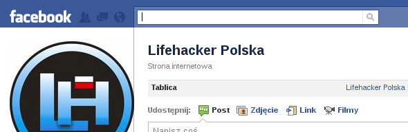 kursor w polu wyszukiwania Facebook