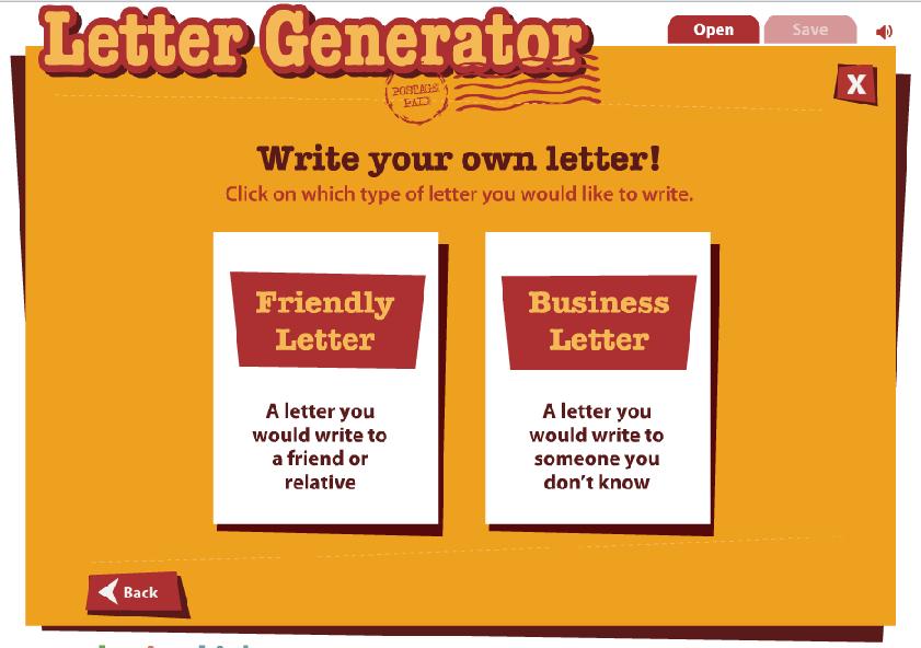 Letter Generator - Wybierz rodzaj listu
