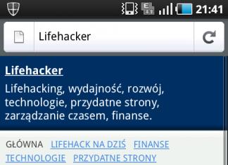 Lifehacker - wersja mobilna dla komórek i innych urządzeń przenośnych