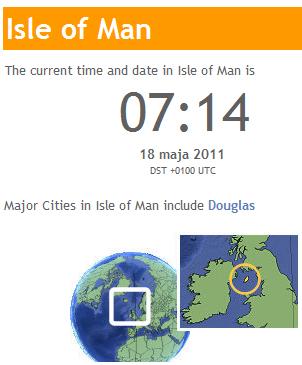 WorldTimeServer - Czas bieżący na Wyspie Man