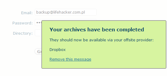 wp Time Machine + Dropbox = backup 2