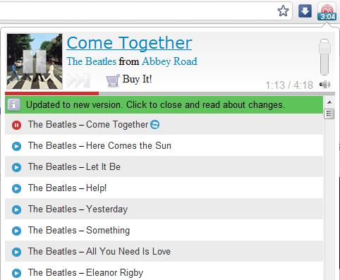 Last.fm free music player - rozszerzenie (wtyczka Google Chrome)
