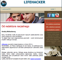 Lifehacker Polska - newsletter
