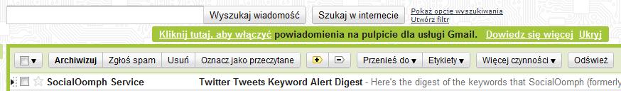 Powiadomienia na pulpicie dla usługi Gmail (Google)