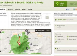 Trail.pl - opis szlaku - szlak niebieski z Sobótki Górka na Ślężę