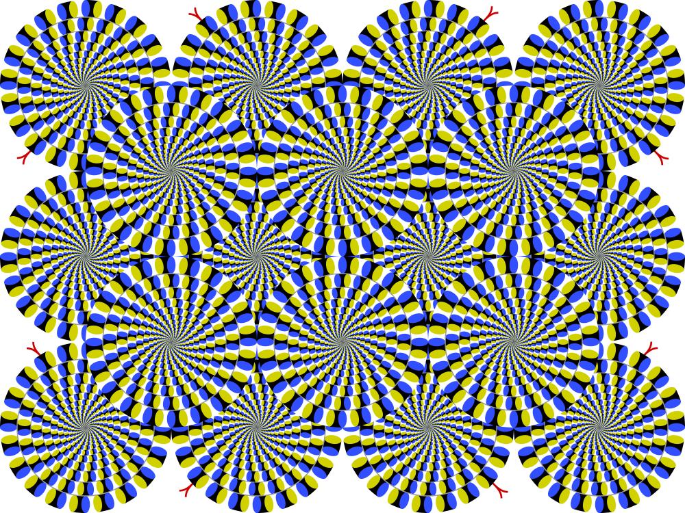 Rotating snakes with the spiral illusion - Akiyoshi Kitsoka - Lifehacker