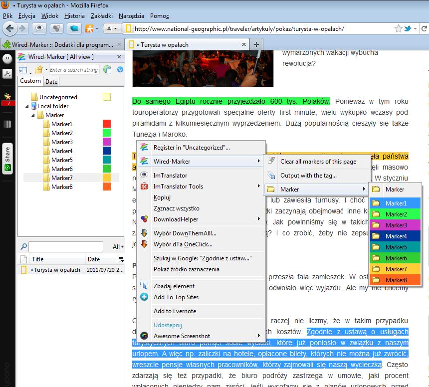 Wyróżnianie fragmentów tekstu dzięki Wired Marker (Mozilla Firefox) - Lifehacker