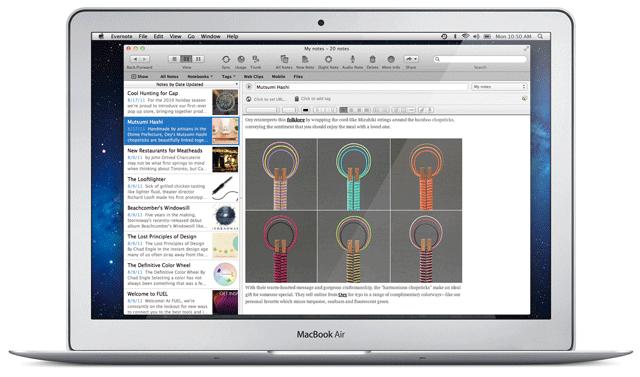 Evernote 3.0 dla Mac OS X 10.7 Lion - nowy wygląd