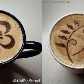Szablony CoffeeStencil - 4 - (Nie)szablonowe komunikaty i wzorki na kawie