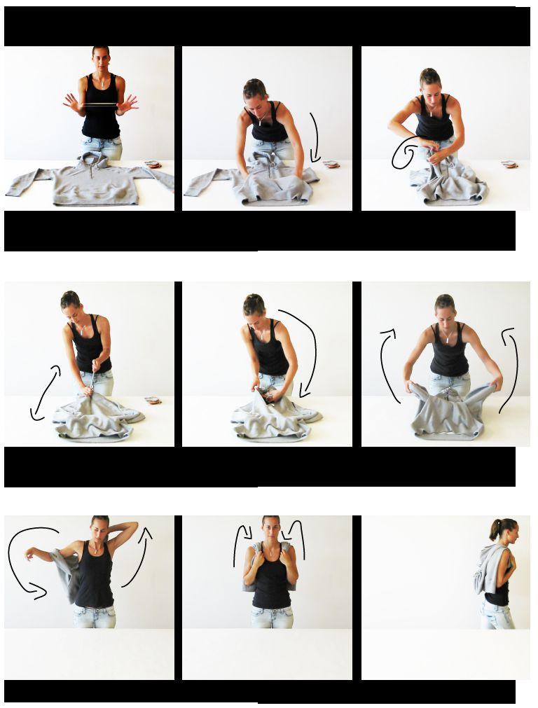 Jak zamienić bluzę z kapturem w plecak