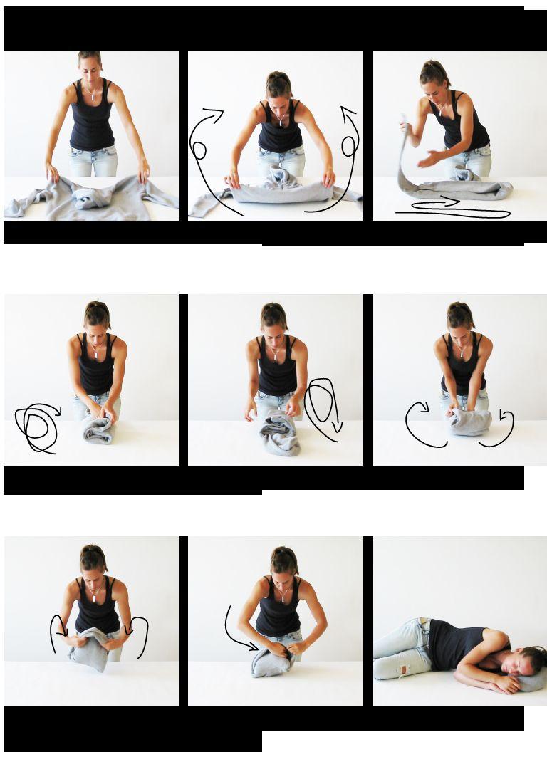 Jak zamienić bluzę z kapturem w poduszkę