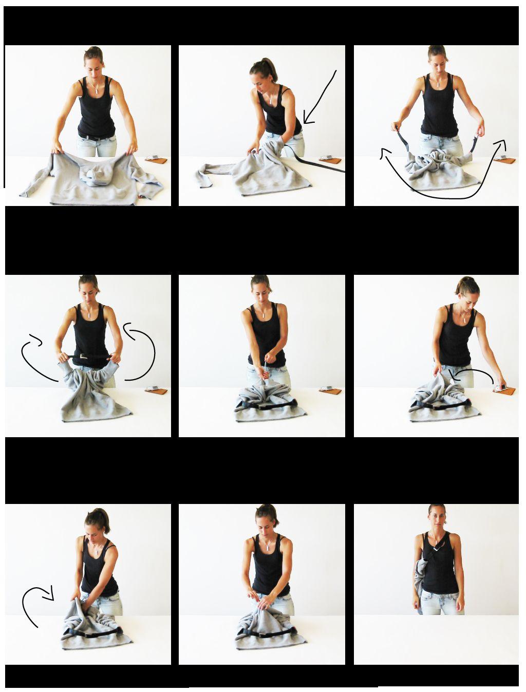 Jak zamienić bluzę z kapturem w torbę na ramię