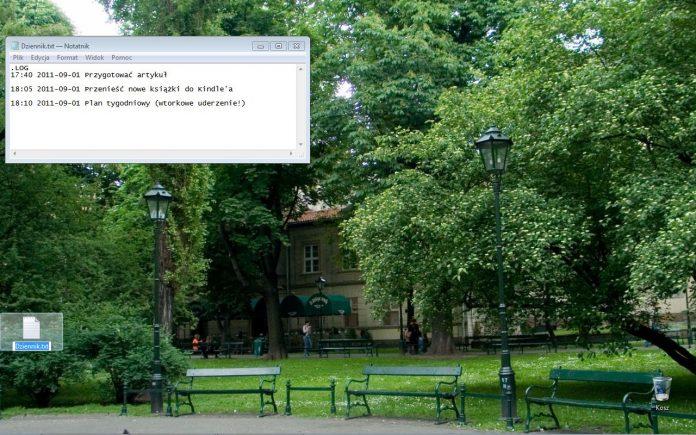 Notatnik jako minimalistyczna lista wykonanych zadań (OS Windows)