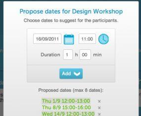 Organizowanie spotkań w Meetin.gs - proponowane terminy