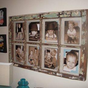 Zamiast wyrzucać stare okna, można udekorować nimi dom - Ramka na zdjęcia