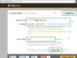 Jak czytać w Kindle kanały RSS subskrybowane w Czytniku Google