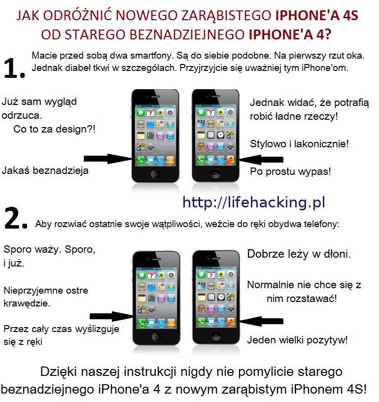 Jak odróżnić nowego zarąbistego iPhone'a 4S od starego beznadziejnego iPhone'a 4