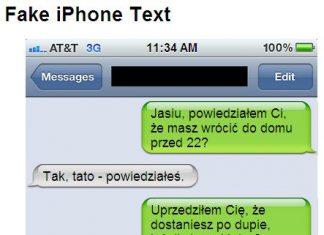 Jak spreparować screenshoty dialogów SMS jak w iPhonie, nie mając iPhone'a