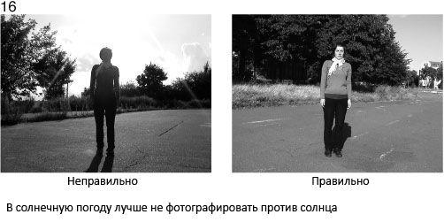 16 Gdy jest słonecznie, lepiej nie robić zdjęcia pod słońce