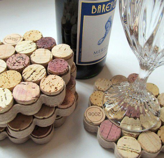 18 zapierających dech sposobów na wykorzystanie korków po winie - podstawka pod kieliszki