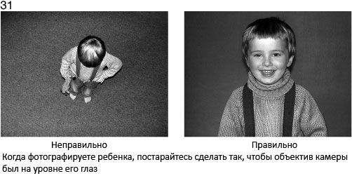 31 Fotografując dziecko, staraj się, aby obiektyw kamery znajdował się na poziomie jego oczu - źle