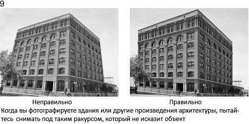 9 Fotografując budynki lub pomniki architektury, próbuj robić zdjęcia pod takim kątem, aby nie zniekształcić obiektu
