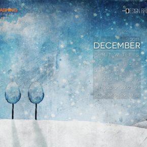 Grudniowe tapety z kalendarzem od Smashing Magazine - December Blue-1024x768
