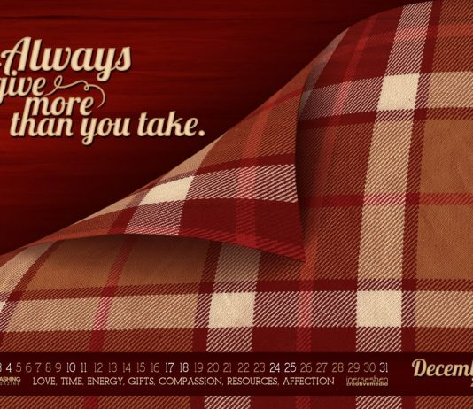Grudniowe tapety z kalendarzem od Smashing Magazine - Give More-1024x768