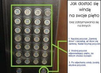 Jak dostać się windą na swoje piętro bez zatrzymywania się na innych