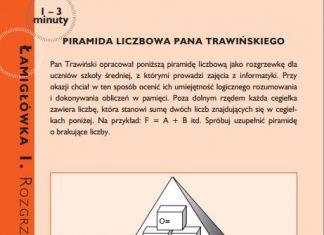 Łamigłówka - piramida liczbowa pana Trawińskiego