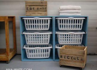 DIY Komoda z misek na pranie bielizny. Koniec z bałaganem w łazience!