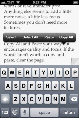 Pop iPhone - biała kartka do zapisywania Twoich myśli