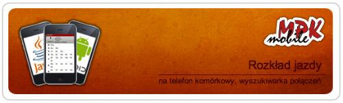 mMPK - rozkład jazdy na telefon komórkowy