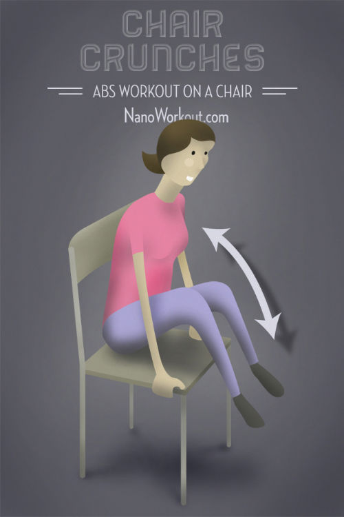 """""""Brzuszki"""" na krześle"""