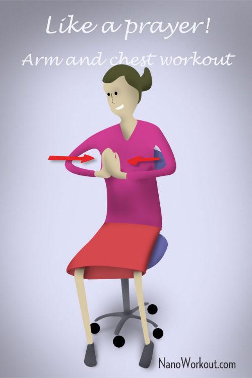 """""""Modlitwa"""" - ćwiczenie ramion i klatki piersiowej w pracy"""