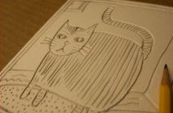Rzeźbimy ołówkiem kota. Im mniej macie doświadczenia, tym lepszy będzie efekt końcowy