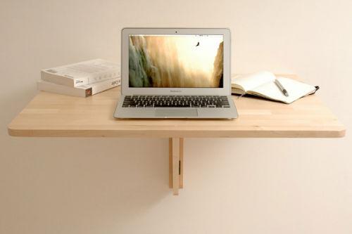Adaptujemy składany stolik ścienny na stojące miejsce pracy