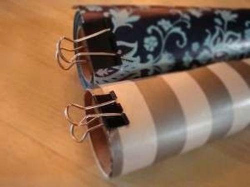 Blokowanie końcówek rolek (tapet, papieru ozdobnego itp.)