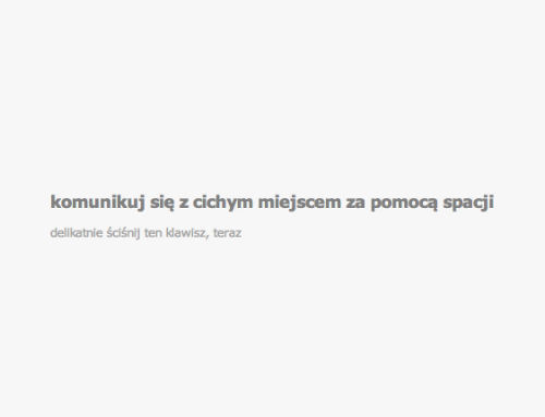 Ciche miejsce w Internecie