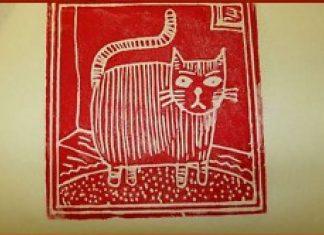 Robimy z opakowania obiadowego modny obrazek kota