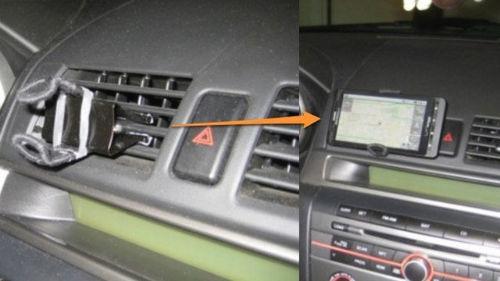 Uchwyt na telefon lub GPS w samochodzie