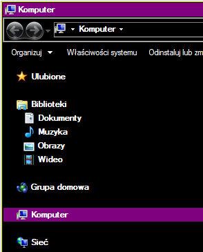Windows (lewy Shift, lewy Alt i Print Screen) - Funkcja duży kontrast zwiększa czytelność obrazy przez zastosowanie specjalnego systemowego schematu kolorów