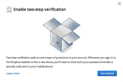 Dwustopniowa weryfikacja w serwisie Dropbox - jak włączyć już teraz