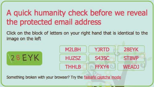 Następnym razem gdy ktoś poprosi nas w Internecie o adres, po prostu podamy krótki adres w scr.im, a druga osoba będzie musiała wpisać kod weryfikacyjny (captcha).