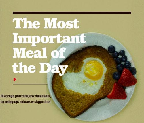 Dlaczego śniadanie jest najważniejszym posiłkiem dnia