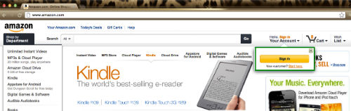 Krok pierwszy - rejestracja w sklepie Amazon.com