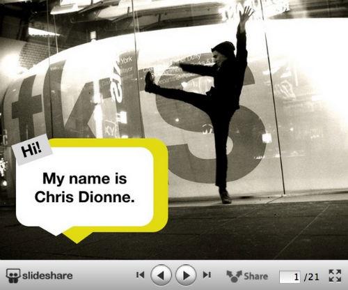 10 kreatywnych wizualnych CV od SlideShare - Hi. My name is… - Chris Dionne